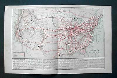 1875 HARPER. Industrial map of United States of America