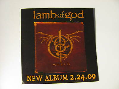 Lamb Of God Wrath Bike Board Amp Car Promo 4x4 Sticker