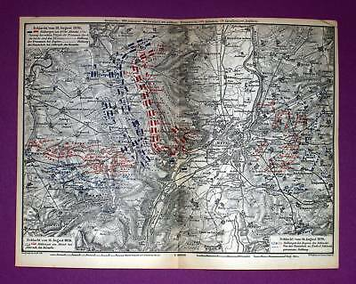 1871 WAGNER. Germany rare topographical map Deutschland