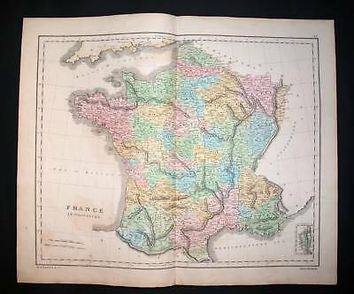 1845 LLOYD. Folio Map of France in Provinces, Francia..