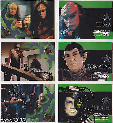 Star Trek The Next Generation Skybox Tng Season 7 Foil Embossed Set S37-S42 (6)