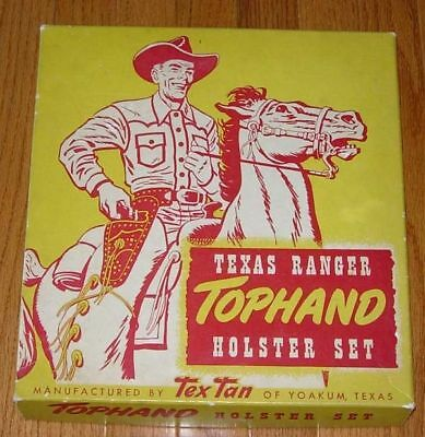 Tophand Texas Ranger Hoslter Set Box Only 1950's