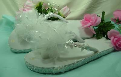 Wedding Shoes Sneakers FLIP FLOPS Organza Bow