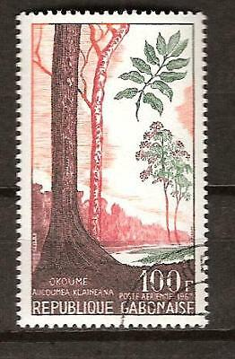 GABON # C 62 Used KLAINEANA TREE