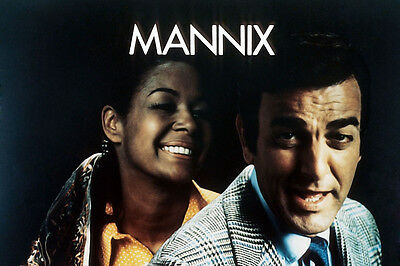 Mannix Mike Connors Gail Fisher 24X36 Poster Print