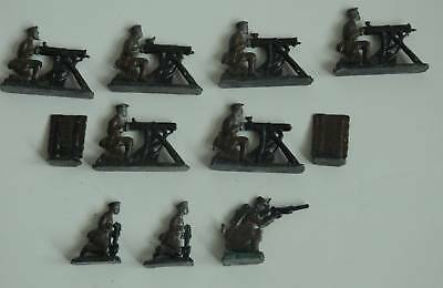 Lot of 11 WWI Toy Soldiers Lead or Cast Iron ? w/ Box