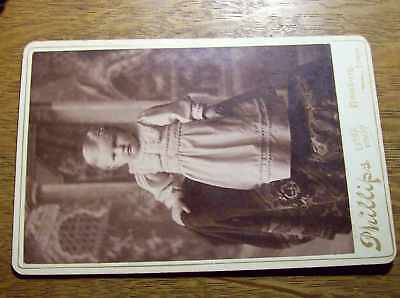 Antique Cabinet Card Photograph Photo Baby Hamburg Iowa