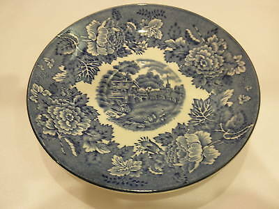 Wood & Sons Blue Willow Antique English Scenery Saucer