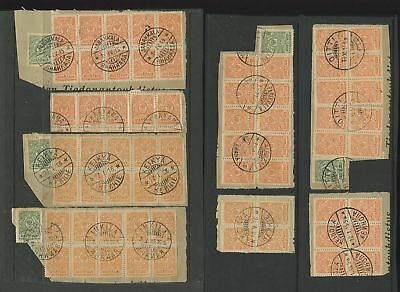 Finland 1900-20 Postmarks Blocks Smaller Towns 10 Items