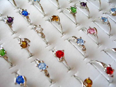 Wholesale 100pcs sparking Cubic Zirconia rings