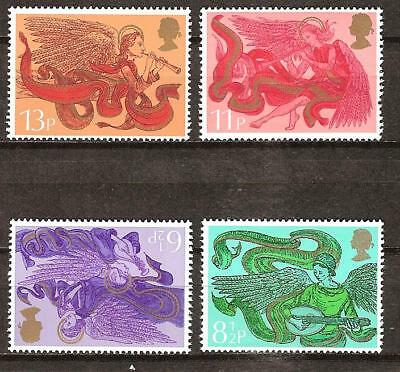 Great Britain # 758-761 Mnh Angels Musical Instruments