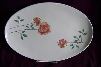 Iroquois Rosemary Seibel Informals oval platter serving china chop plate EUC