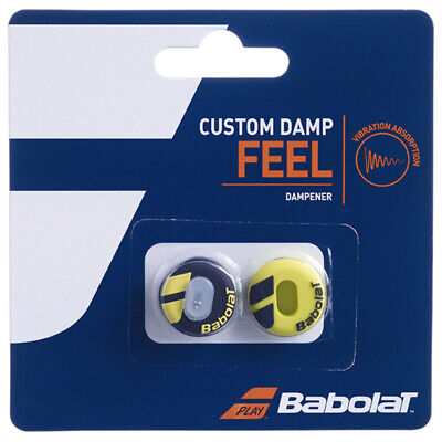 Babolat Damper Custom Damp Shock Absorber Vibration - Pack of 2 - Black/Yellow