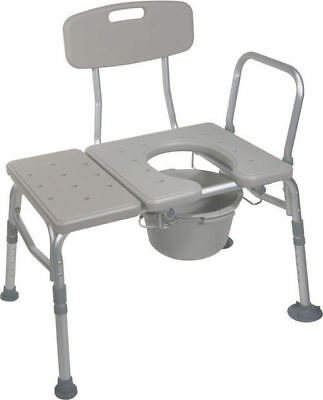 Drive Medical KD Bath Tub Seat Transfer Bench Commode