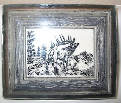 "Montana Marble Elk ""Making It Known"" Framed"
