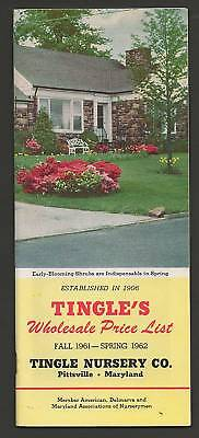 Tingles Nursery Whsale Price Cat 61/62 Pittsville Md