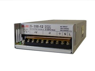 33 Amp 10-15.5 Volts 13.8 Regulated Ham Radio Power Supply 12 V Real MegaWatt®