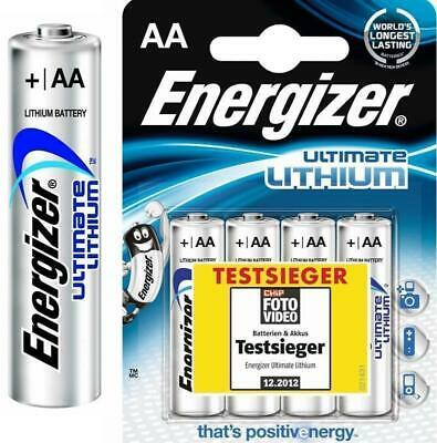 100 Energizer Ultimate Lithium AA Mignon MN1500 LR6 AM3 Ø13,6 x 49,8 mm
