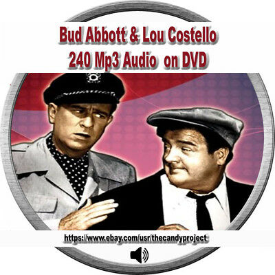 240  MP3s Abbott and Costello  Whos on First Audiobook Baseball Player  DVDs
