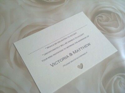10 x  Wedding RSVP cards