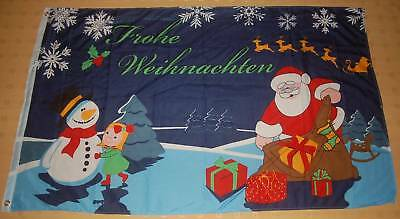 Frohe Weihnachten X-Mas Merry Christmas Kind Fahne 90 x 150 cm