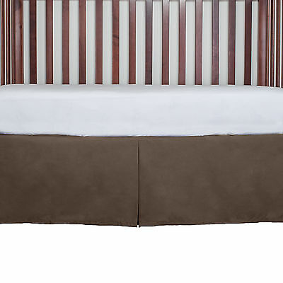 Baby bed Nursery Crib Tailored Dust Ruffle Bed Skirt 15 inch Drop New