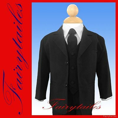 Baby Boy Formal Black Tuxedo Suit Size Infant Toddler