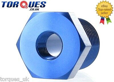 """1/2"""" NPT Male to 1/8"""" NPT Female Straight Adapter- Blue"""