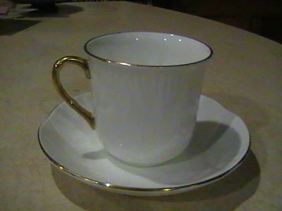 Crown Staffordshire Petite Gold Cup & Saucer