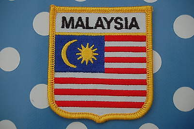 Malaysia Aufnäher Aufbügler Wappen Patch Flagge