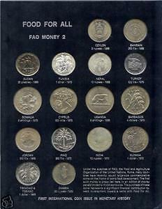 FAO SET 1968-1970 16 Coins 3 Silver & 8 Crown BOARD #2