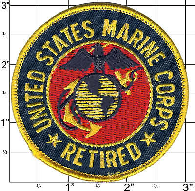 USMC Retired Patch United States Marine     MADE IN USA