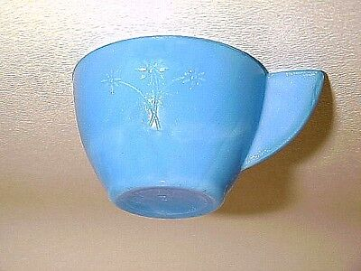 Rare Blue Daisy Akro Agate Child Tea Set Cup / 6 Available