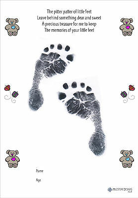 New Baby Bears Inkless Foot/Handprint Kit - UNIQUE GIFT
