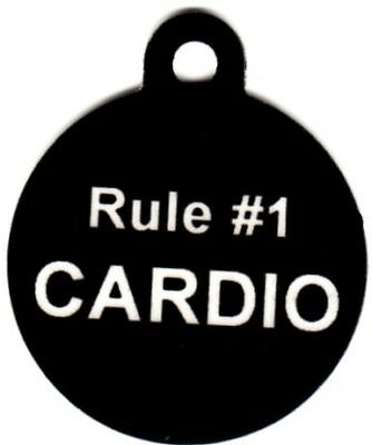 Engraved Pet ID Round ZombieLand Rule #1 Cardio Pet Tag