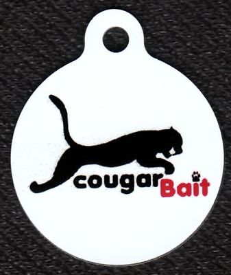 Engraved Pet ID Cougar Bait Pet Tag