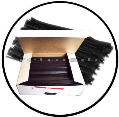 """100 BLACK 6"""" Plastic Twist Ties 6-inch for many uses"""