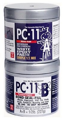 1/2 Lb Pc11 White Epoxy Cement,paste Marine Grade