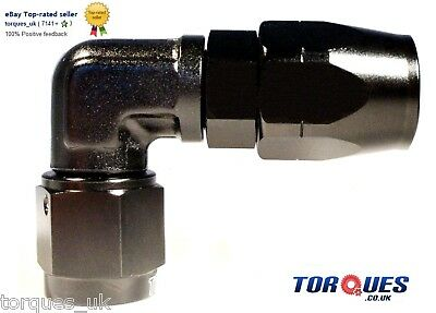 AN -10  90 DEGREE Swivel Seal BLACK Forged Hose Fitting