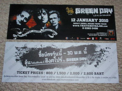 GREEN DAY THAILAND very rare live your concert promo!