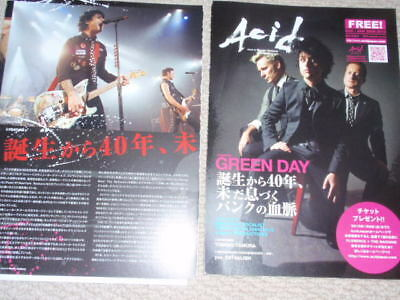 GREEN DAY Japan magazine cuttings LIVE in TOKYO '09 $1!