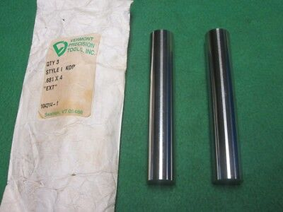 """2 KNOCK OUT KO MOLD DIE PUNCH EJECTOR PIN .681 x 4"""""""