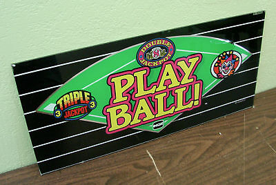 Play Ball! IGT Casino Slot Belly Glass Decor