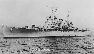 USS Brooklyn Light Cruiser CL-40 1937 1951 Navy