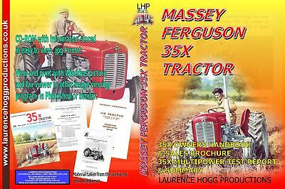 Massey Ferguson 35X Manual Brochure Multipower  Report Lhp Hdcd011