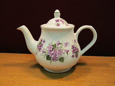 Arthur & Son Teapot w/Purple Flowers  (A)