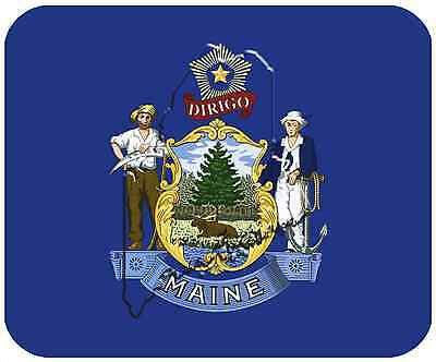 Mouse Pad State Flag Thick Mousepad - Maine