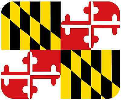 Mouse Pad State Flag Thick Mousepad - Maryland
