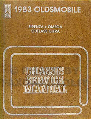 1983 olds repair shop manual firenza omega cutlass ciera oldsmobile service  83