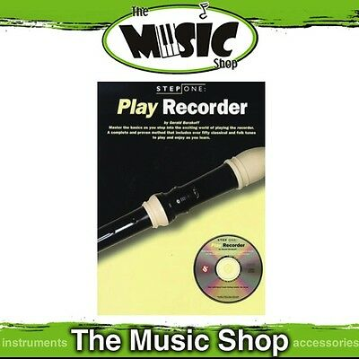 Step One Play Recorder Method Lesson Book with CD New